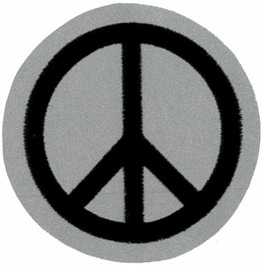 "Peace/ Cnd Reflective Patch 6 Cm Dia (2 1/4 Dia"")"