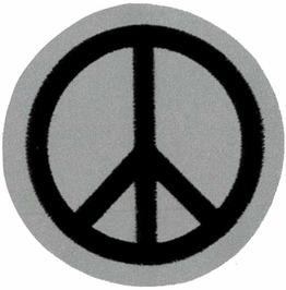"Peace/ Cnd Reflective Patch 6 Cm Dia (2 1/4 Dia"")"
