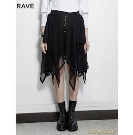 Black Gothic Bat Irregular Skirt Pq 149 Bk