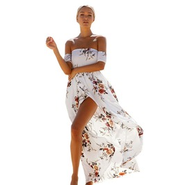 Long Off The Shoulder Summer Maxi Dress Boho Style