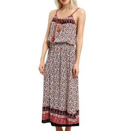 Women's Ankle Length Boho Beach Print Dress