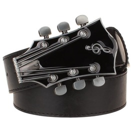 Steampunk Guitar Men Leather Belt,Vintage Casual Unisex Belt