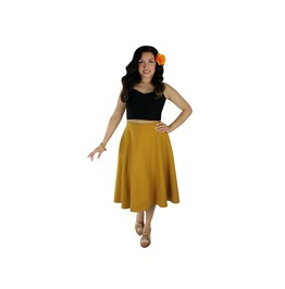 Tropical Mustard Yellow Full Circle Skirt