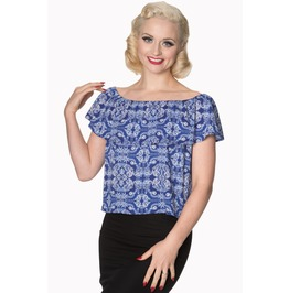 Banned Apparel Celestial Off Shoulder Top