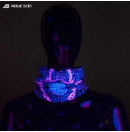 Cyberdrome Uv Black Light Reactive Tube Bandana Scarf Mask