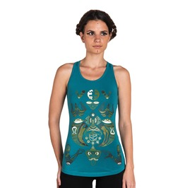 Visionary Art Tank Top Shamanic Healer Top Gypsy Clothing