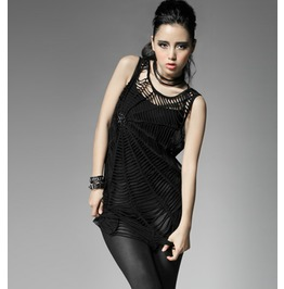 Punk Rave Women's Gothic Spider Web Crocheted Tops T318