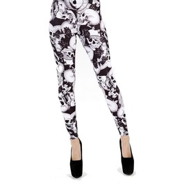 Womens Skull (Riley) Leggings (Medium/Large) By Pamela Mann Womens