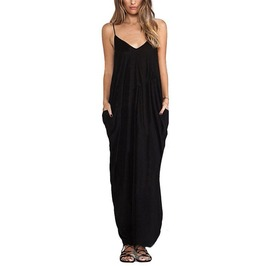 Long Sleeveless Loose Casual Maxi Dress For Women
