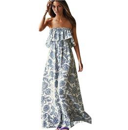 Off Shoulder Long Maxi Dress Women Bohemian Style