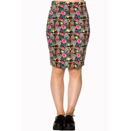 Banned Apparel Black Brooke Pencil Skirt