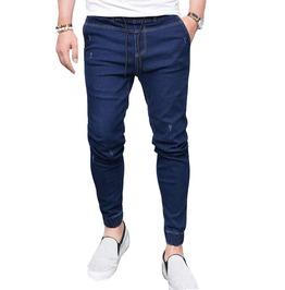 Drawstring Distressed Skinny Jogger Jeans Men