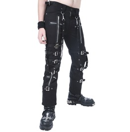 Dead Threads Black Buckle Zips Chains Straps Trousers Pants Cyber Goth Rave
