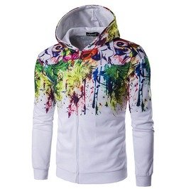 Graffiti Paint 3 D Print Hoodie Jacket Men Women