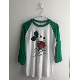 Mickey Fashion 3/4 Long Sleeve Baseball T Shirt