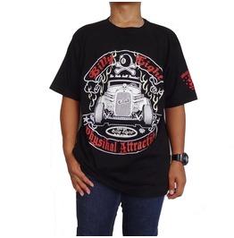 Billy Eight Large Mens Rockabilly Hot Rod Retro Silk Screened T Shirt