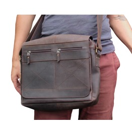Leather Messenger Bag Crossbody Satchel Nomad 3 From One Leaf