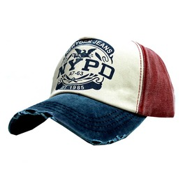 Cotton Letter Nypd Adjustable Vintage Trucker Baseball Cap Men & Women