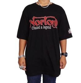 Norton Large Mens Vintage England Motorcycles, Silk Screened T Shirt