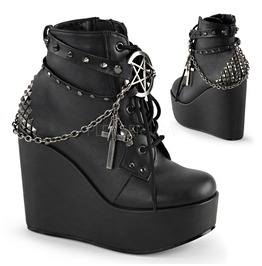 Witch Pentagram Wedge Boots