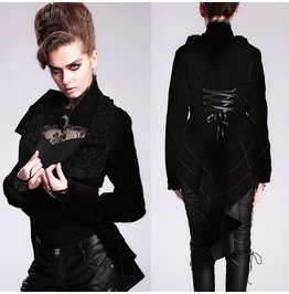Davil Fashion Women Lolita Dark Tailcoat Gothic Women Victorian Tailcoat
