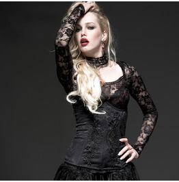 Punk Rave Women's Gothic Floral Lace Slim Fitted Underbust Corsets Y524