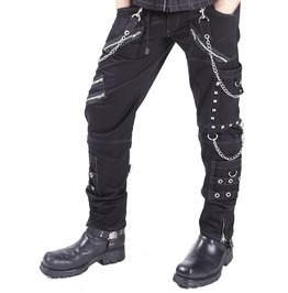 New Dead Threads Gothic D Ringe Zips Straps Pants Punk Rave Cyber Trousers