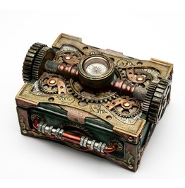 Steampunk Box W/Compass V8508
