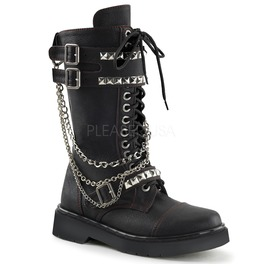 Black Gothic Biker Chain Boots
