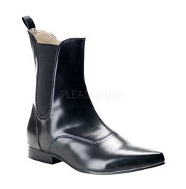 Winklepicker Beatle Ankle Point Toe Boots ( Demonia Brogue 02 )