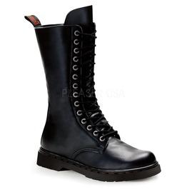 Gothic Biker Mid Calf Combat Boots ( Defiant 300 )