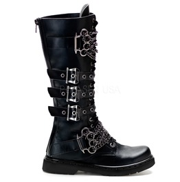 Men's Gothic Rock Biker Boots With Chains