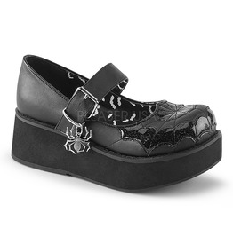 Demonia Spider Design Flat Shoes
