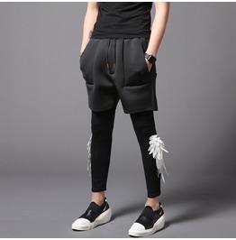 Men's Causal Shorts Black Slim Fit Leggings