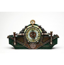 Steampunk Table Clock V8509