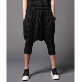 Men's Casual Sweatpants Fashion Black Harem Shorts