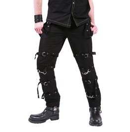 Gothic Black D Rings Zips Straps Trousers Dead Threads Punk Cyber Pants