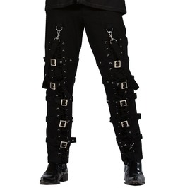Dead Threads Goth Black Buckles Zips Straps Trousers Goth Punk Cyber Pants