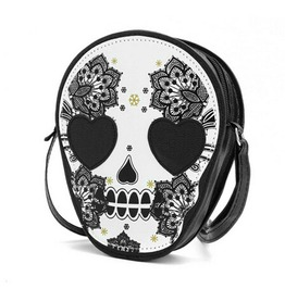 Skull Head Shoulder Crossbody Messenger Bag Women