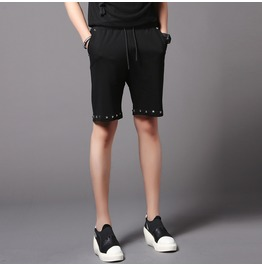 New Summer Black Rivet Causal Shorts