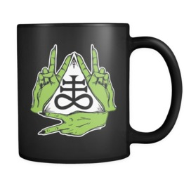 Peace & Brimstone Black Mug 11oz