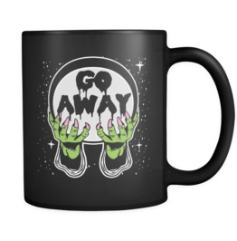 Go Away Black Mug 11oz