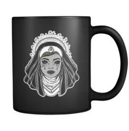 Satanic Nun Black Mug 11oz