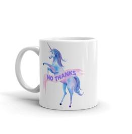 No Thanks Unicorn White Mug 11oz
