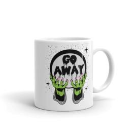 Go Away Crystal Ball White Mug 11oz