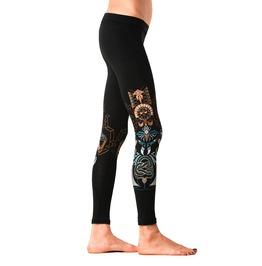 Kundalini Snake Leggings Graphic Printed Leggings