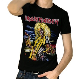 3 D Print Iron Maiden Heavy Metal Streetwear Casual Short Sleeve T Shirt Men