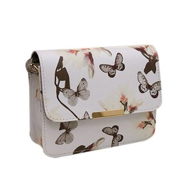 Women Floral Leather Clutch Shoulder Bag Vintage Style