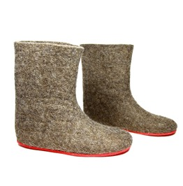 Made To Order Women's Eco Friendly Warm Organic Wool Boots Cappuccino