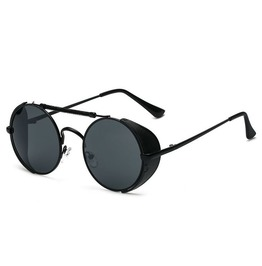 Steampunk Unisex Black Frame Sunglasses